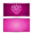 Card with heart with sketch symbols vector image vector image