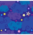cartoon clouds and stars nighttime seamless vector image vector image