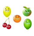 Cartoon Fruit Set 2 vector image