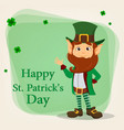 Cartoon funny leprechaun vector image