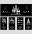collection of card templates on the theme vector image vector image