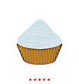 cupcake icon flat style vector image vector image