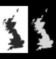 dot halftone great britain map vector image vector image