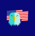Eagle head and american flag