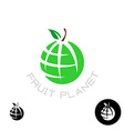 Earth apple globe logo vector image vector image