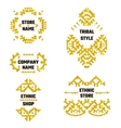 Ethnic Style Gold Symbol 1 vector image