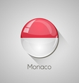 European flags set - Monaco vector image vector image