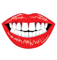 female lips with teeth vector image vector image