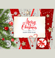 festive winter rustic card vector image vector image