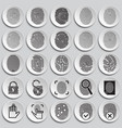 finger id icons on plates background for graphic vector image