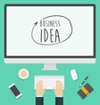 Flat design concept for web business idea trendy vector image