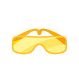 flat icon of safety goggles glasses with vector image vector image