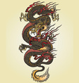 Full color asian dragon tattoo vector | Price: 1 Credit (USD $1)