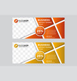gradient web banners with a place for photos vector image vector image