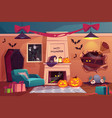 halloween interior empty scary vampire room vector image vector image