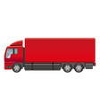 heavy truck on a white background vector image vector image