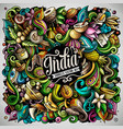india hand drawn doodles vector image vector image