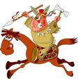indian horseback riding vector image vector image