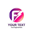 initial letter f logo template colorfull circle vector image vector image