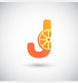 letter j with fruit logo concept creative and vector image vector image