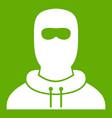 man in balaclava icon green