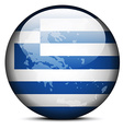 Map on flag button of Hellenic Republic Greece vector image