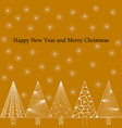 new year and christmas card in zenart style white vector image vector image