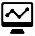online analytics vector image vector image