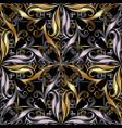 ornamental vintage 3d seamless pattern black vector image vector image