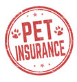 pet insurance sign or stamp vector image