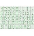pixel green font vector image