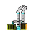 pollution from factory smoking industrial concept vector image