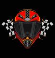 racing helmet icon logo vector image vector image