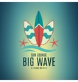 Retro Style Surfing Labels Logos vector image vector image