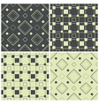 seamless patterns with squares vector image