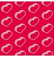 seamless red pattern with isometric hearts vector image