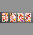 set of universal cards fluid art hand drawn vector image vector image