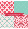 set seamless geometric patterns vector image vector image