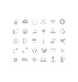 set simple icons recycling vector image vector image