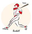 showing a Baseball vector image