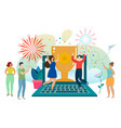 social and business situations vector image vector image