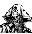 spooky pirate hand drawing vector image vector image