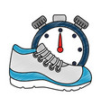 sport shoe tennis with chronometer vector image