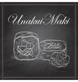 UnakuiMaki roll on a blackboard vector image