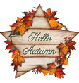 watercolor hand drawn fall composition with fall vector image vector image