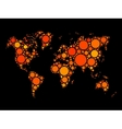 World map mosaic made of dots vector image vector image