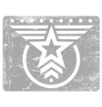 Military style grunge emblem vector image