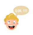 character laughs lol vector image