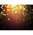 Christmas background with defocused lights vector image