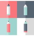 Flat pencil icon set vector image